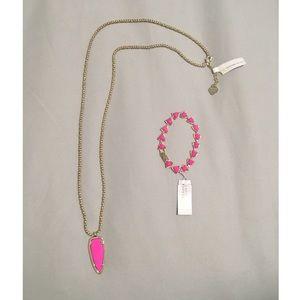Kendra Scott necklace and bracelet set